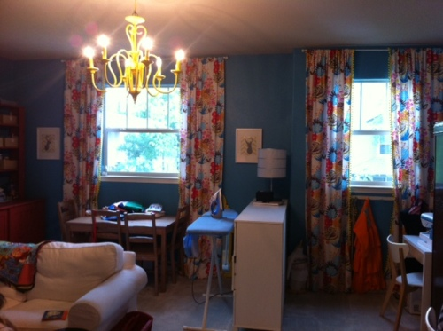 Here is what I'm talking about!  I used Summer Totem by Anna Maria Horner for my sewing room.