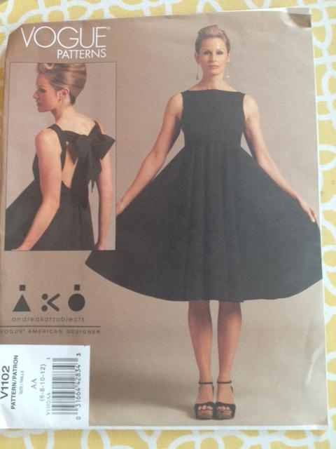 vogue bow dress